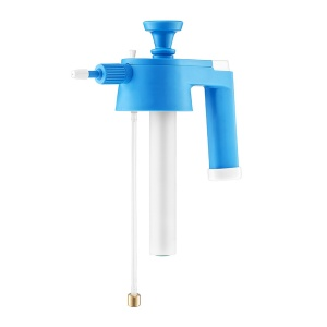 Solvent line pump with an adjustable nozzle for VENUS Sprayers